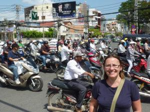 Tráfico de Saigón, Vietnam